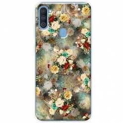 Etui na Samsung Galaxy A11 Bukiet kolorowych róż