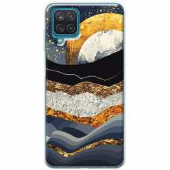 Etui na Samsung Galaxy A12 Marmurowy zachód słońca