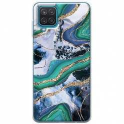 Etui na Samsung Galaxy A12 Szlachetny marmur zielony