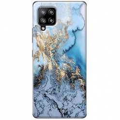 Etui na Samsung Galaxy A42 5G Błękitny marmur