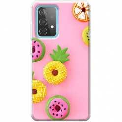 Etui na Samsung Galaxy A52 5G Kolorowe pączki owocowe