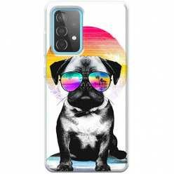 Etui na Samsung Galaxy A52 5G Piesek w okularach