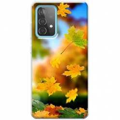 Etui na Samsung Galaxy A52 5G Jesienne liście spadające