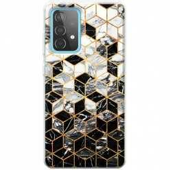 Etui na Samsung Galaxy A52 5G Geometryczny marmur czarno biały