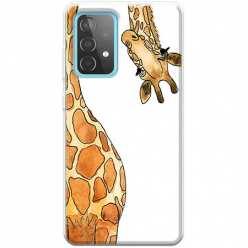 Etui na Samsung Galaxy A52 5G Ciekawska żyrafa