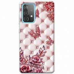 Etui na Samsung Galaxy A52 5G Motyle z różami Glamour