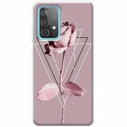 Etui na Samsung Galaxy A52 5G Farbowana Róża w trójkątach