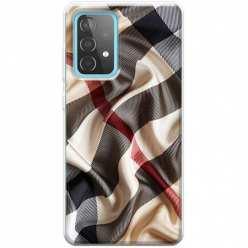 Etui na Samsung Galaxy A52 5G Pomięty szalik w kratkę