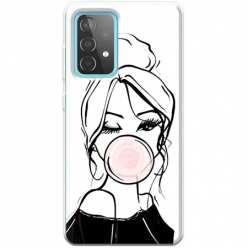 Etui na Samsung Galaxy A52 5G Dziewczyna z gumą balonową