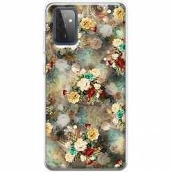 Etui na Samsung Galaxy A72 5G Bukiet kolorowych róż