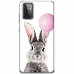 Etui na Samsung Galaxy A72 5G Wesoły królik z balonikiem