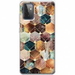 Etui na Samsung Galaxy A72 5G Marmurowe romby