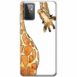 Etui na Samsung Galaxy A72 5G Ciekawska żyrafa