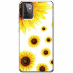 Etui na Samsung Galaxy A72 5G Słoneczniki