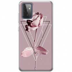 Etui na Samsung Galaxy A72 5G Farbowana Róża w trójkątach