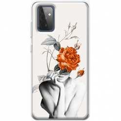 Etui na Samsung Galaxy A72 5G Abstrakcyjna Kobieta z różami