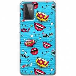 Etui na Samsung Galaxy A72 Kiss Me… LOL! Usta