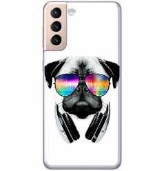 Etui na Samsung Galaxy S21 Plus Piesek w okularach DJ