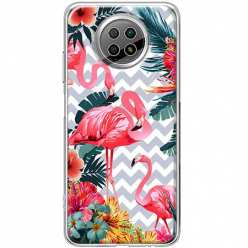 Etui na Xiaomi Redmi Note 9T Różowe flamingi