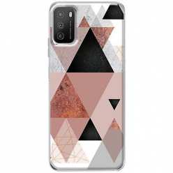 Etui na Xiaomi POCO M3 Abstrakcyjne trójkąty