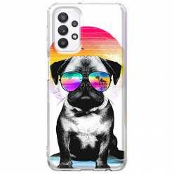 Etui na Samsung Galaxy A32 5G Piesek w okularach