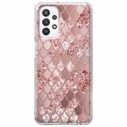 Etui na Samsung Galaxy A32 5G Brokatowe łuski rózowe
