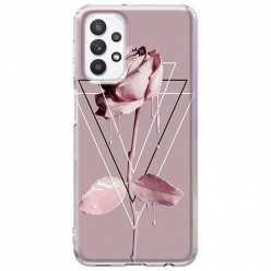 Etui na Samsung Galaxy A32 5G Farbowana Róża w trójkątach