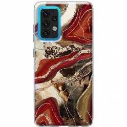 Etui na Samsung Galaxy A02s Rubinowo złoty Agat