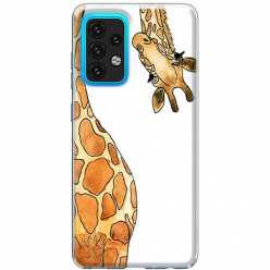 Etui na Samsung Galaxy A02s Ciekawska żyrafa