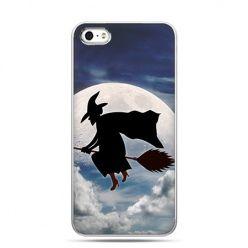 Etui na telefon Halloween czarownica na miotle