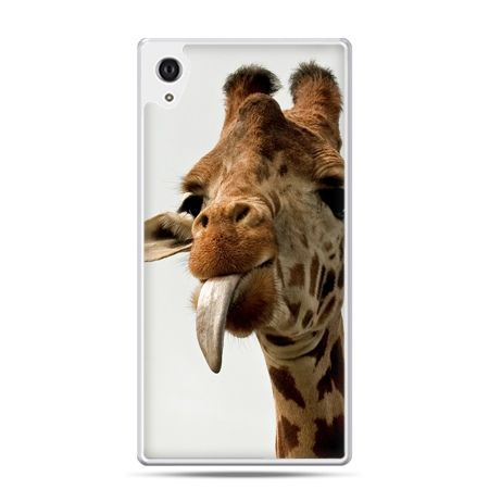 Etui na Xperia M4 Aqua żyrafa z językiem
