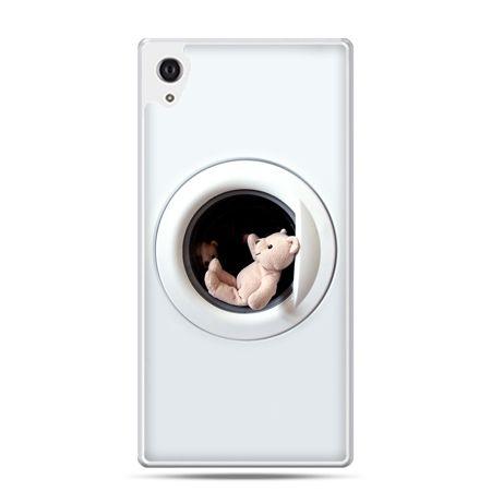 Etui na Xperia M4 Aqua miś w pralce