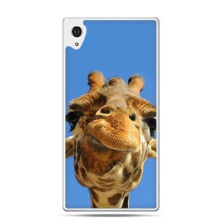 Etui na Xperia M4 Aqua zabawna żyrafa