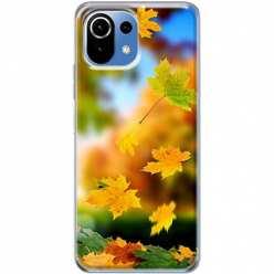 Etui na Xiaomi Mi 11 Lite Jesienne liście spadające