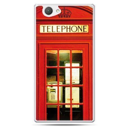 Xperia Z1 compact etui czerwona budka telefoniczna