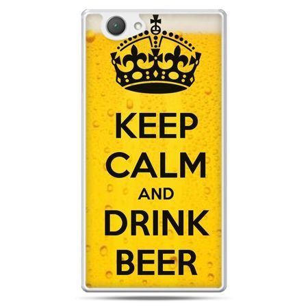 Xperia Z1 compact etui Keep calm and drink beer