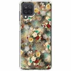 Etui na Samsung Galaxy M12 Bukiet kolorowych róż
