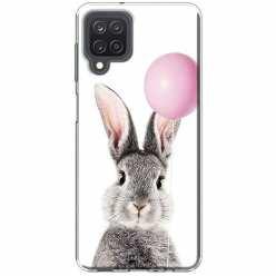 Etui na Samsung Galaxy M12 Wesoły królik z balonikiem