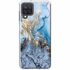 Etui na Samsung Galaxy M12 Błękitny marmur