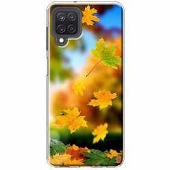 Etui na Samsung Galaxy M12 Jesienne liście spadające