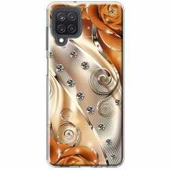 Etui na Samsung Galaxy M12 Metaliczne nuty