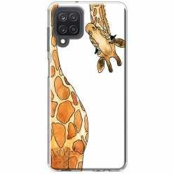 Etui na Samsung Galaxy M12 Ciekawska żyrafa