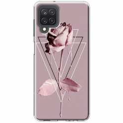 Etui na Samsung Galaxy M12 Farbowana Róża w trójkątach