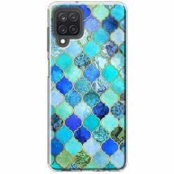 Etui na Samsung Galaxy M12 Błękitny damaszek