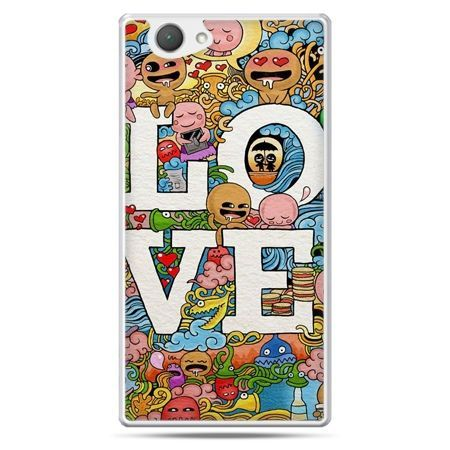 Xperia Z1 compact etui LOVE