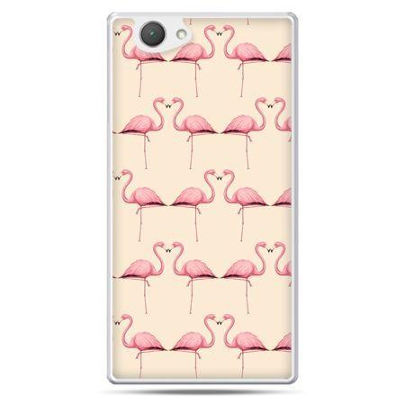 Xperia Z1 compact etui flamingi
