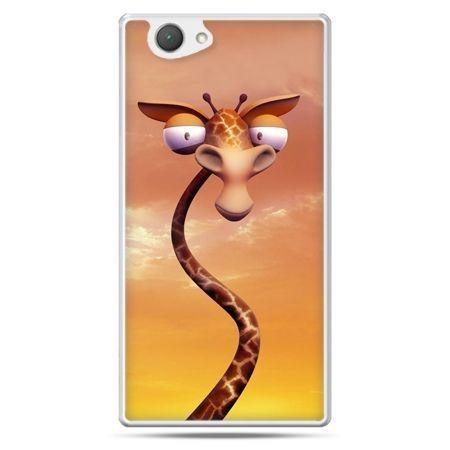 Xperia Z1 compact etui śmieszna żyrafa