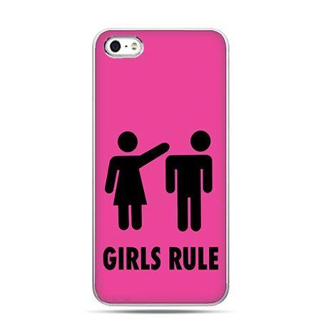 Etui na telefon różowe Girls Rule