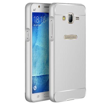 Galaxy J5 etui aluminium bumper case srebrny