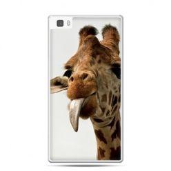 Huawei P8 Lite etui żyrafa z językiem